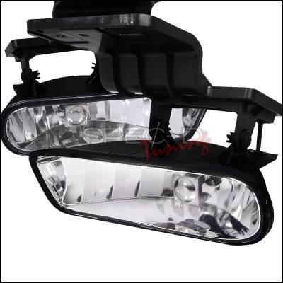Spec-D - Chevrolet Silverado Spec-D Fog Light Kit - Clear Lens - Without Wire Kit - LF-SIV99COEM-HZ