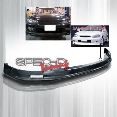 Spec-D - Honda Civic 2DR & 3DR Spec-D Mugen Style ABS Plastic Front Lip - LPF-CV923M-ABS