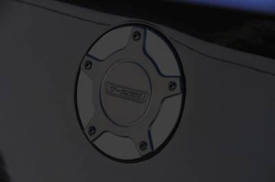 T-Rex - Chevrolet Camaro T-Rex T1 Series Billet Gas Door - Black - 120271