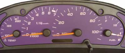 US Speedo - US Speedo Purple Exotic Color Gauge Face - Displays MPH - Tachometer - SUN 03 04