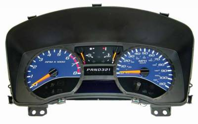 US Speedo - US Speedo Blue Exotic Color Gauge Face - Displays MPH - Automatic - COL 05 14
