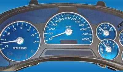 US Speedo - US Speedo Aqua Blue Stainless Steel Gauge Face Kit with White Hub and Back Needles - AQ GM 21