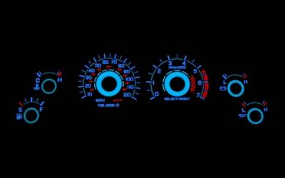 Stack Racing - Ford Mustang Stack Racing White Face Reverse Glow Gauges - 52013