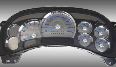 US Speedo - US Speedo Stainless Steel Gauge Face with Blue Back and Color Match Needles - Displays 120 MPH - No Transmission - SS GM 11B