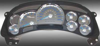 US Speedo - US Speedo Stainless Steel Gauge Face with Blue Back and Color Match Needles - Displays 120 MPH - Transmission Temperature - SS GM 12B