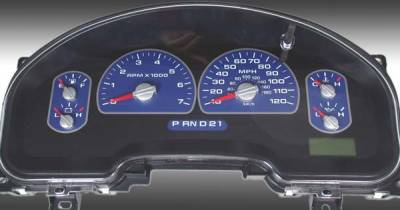 US Speedo - US Speedo Blue Exotic Color Gauge Face - Displays MPH - XLT 04 BL