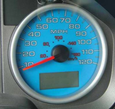 US Speedo - US Speedo Blue Exotic Color Gauge Face - Displays MPH - FX4 04 BL
