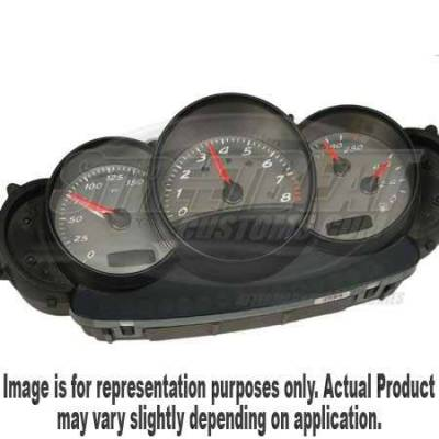 US Speedo - US Speedo Stainless Steel Gauge Face - Displays 150 MPH - BXT0302