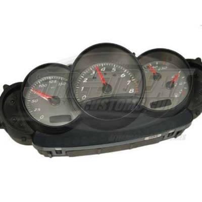 US Speedo - US Speedo Stainless Steel Gauge Face - Displays No Logo - 150 MPH - 8000 Tachometer - BXT0405