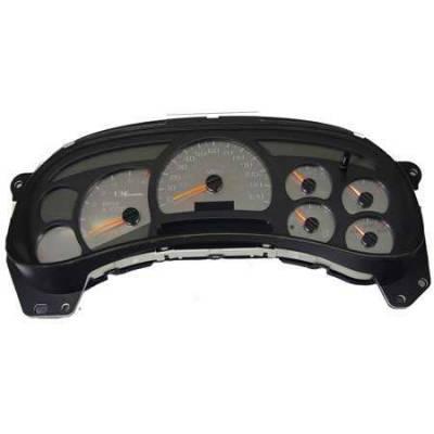 US Speedo - US Speedo Stainless Steel Gauge Face - Displays 120 MPH - No Transmission Temperature - CK1200301