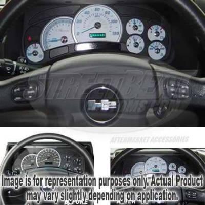 US Speedo - US Speedo White Exotic Color Gauge Face - Displays 120 MPH - Gas - No Transmission Temperature - CK1200430