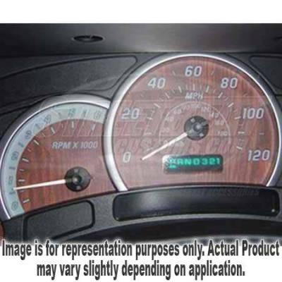 US Speedo - US Speedo Wood Grain Exotic Color Gauge Face - Displays 120 MPH - Gas - No Transmission Temperature - CK1200431