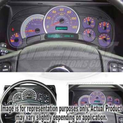 US Speedo - US Speedo Purple Exotic Color Gauge Face - Displays 120 MPH - Gas - No Transmission Temperature - CK1200437
