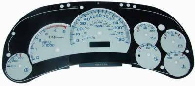 US Speedo - US Speedo White Exotic Color Gauge Face - Displays 120 MPH - Diesel - Automatic - CK1200440D