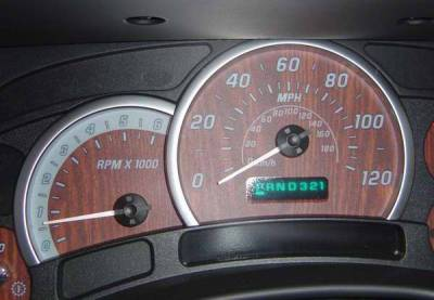 US Speedo - US Speedo Wood Grain Exotic Color Gauge Face - Displays 120 MPH - Gas - Transmission Temperature - CK1200441