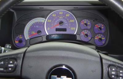 US Speedo - US Speedo Purple Exotic Color Gauge Face - Displays 120 MPH - Gas - Transmission Temperature - CK1200447