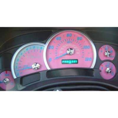 US Speedo - US Speedo Pink Exotic Color Gauge Face - Displays 120 MPH - Gas - Transmission Temperature - CK1200448