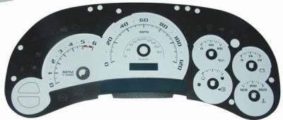 US Speedo - US Speedo White Platinum Exotic Color Gauge Face - Displays 120 MPH - Gas - No Transmission Temperature - CK1200530