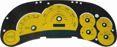 US Speedo - US Speedo Yellow Platinum Exotic Color Gauge Face - Displays 120 MPH - Gas - No Transmission Temperature - CK1200533