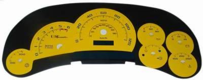 US Speedo - US Speedo Yellow Platinum Exotic Color Gauge Face - Displays 120 MPH - Gas - Transmission Temperature - CK1200543