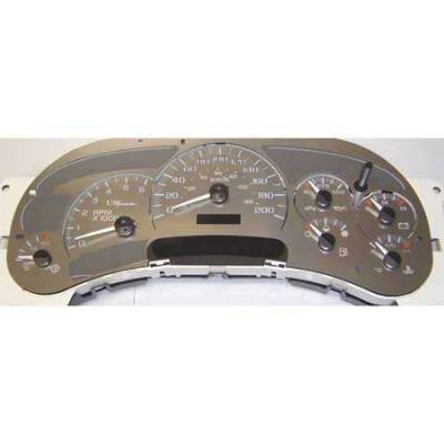 US Speedo - US Speedo Stainless Steel Gauge Face - Displays 180KPH - No Transmission Temperature - CK1800203K