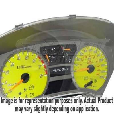 US Speedo - US Speedo Yellow Exotic Color Gauge Face - Displays 200KPH - Gas - Transmission Temperature - CK2000443