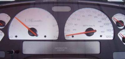 US Speedo - US Speedo Stainless Steel Gauge Face - Displays 7000 RPM - MPH - DUR0301