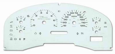 US Speedo - US Speedo Stainless Steel Gauge Face - Displays MPH - Tachometer - F1500404