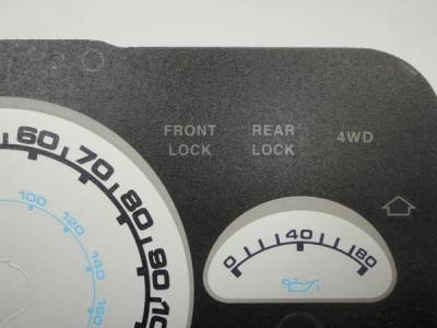 US Speedo - Jeep Wrangler US Speedo Daytona Edition Gauge Face