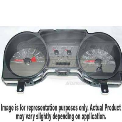 US Speedo - US Speedo Stainless Steel Gauge Face - Displays 140 MPH - 4 Gauge - MUS050802