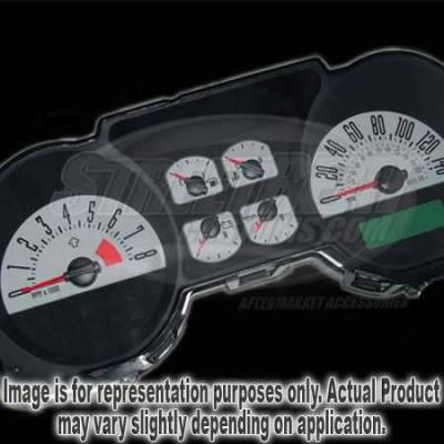 US Speedo - US Speedo Silver Exotic Color Gauge Face - Displays 140 MPH - 6 Gauges - MUS 086 SI
