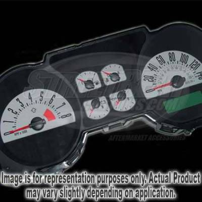 US Speedo - US Speedo Silver Exotic Color Gauge Face - Displays 140 MPH - 4 Gauges - MUS 084 SI