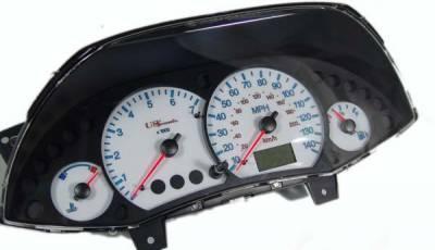 US Speedo - US Speedo White Exotic Color Gauge Face - Displays MPH - Tachometer - FOC 04 WH