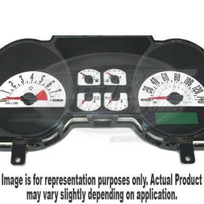 US Speedo - US Speedo White Exotic Color Gauge Face - Displays 120 MPH - 6 Gauges - MUS 066 WH
