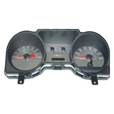 US Speedo - US Speedo Yellow Exotic Color Gauge Face - Displays 120 MPH - 6 Gauges - MUS 066 YE