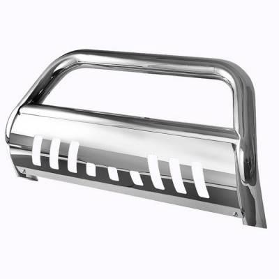 Spyder Auto - Chevrolet Silverado Spyder Bull Bar - Chrome Stainless T-304 - BBR-CS-A02G0400