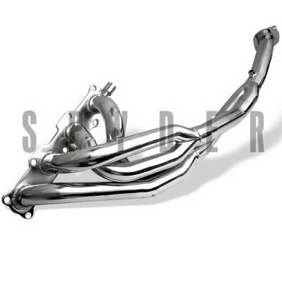 Spyder Auto - Mazda Miata Spyder 4-2-1 Exhaust Header - Chrome - TS-HE-MM99-C