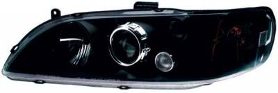 TYC - TYC Projector Headlights with Black Housing - 80610340