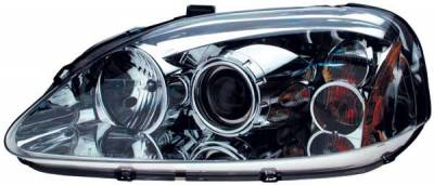 TYC - TYC Projector Headlights with Chrome Housing - 80610500