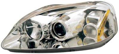 TYC - TYC Projector Headlights with Chrome Housing - 80613300