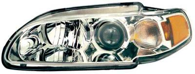 TYC - TYC Clear Projector Headlights with Chrome Housing - 1PC - 80616500
