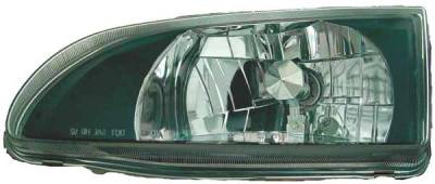 TYC - TYC Euro Clear Headlights Black Housing - 80622541