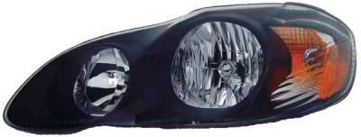 TYC - TYC Euro Clear Headlights Black Housing - 80623541