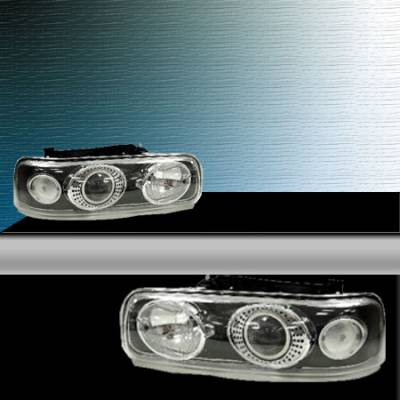 TYC - TYC Projector HID Headlights with Black Housing - 80644584