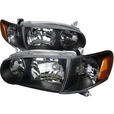 Spec-D - Toyota Corolla Spec-D Euro Headlights - Black Housing - 1PC - 2LCLH-COR01JM-DP