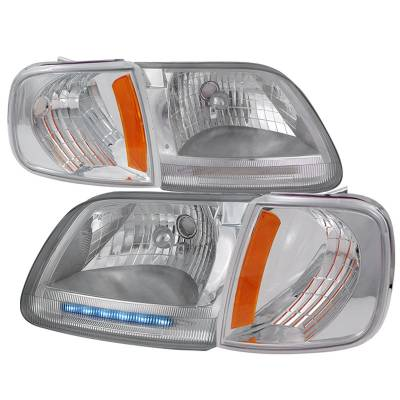 Spec-D - Ford F150 Spec-D Headlights & Corner Lights - 2LCLH-F15097-RS
