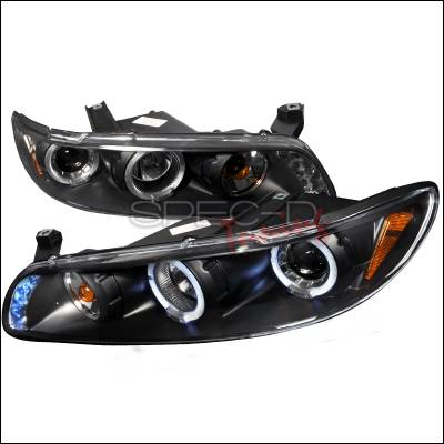 Spec-D - Pontiac Grand Prix Spec-D Halo LED Projector Headlights - Black - 2LCLHP-GPX97JM-TM