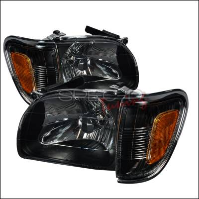Spec-D - Toyota Tacoma Spec-D Crystal Housing Headlights - Black - 2LCLH-TAC01JM-KS