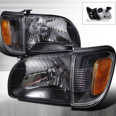 Spec-D - Toyota Tacoma Spec-D Crystal Housing Headlights - Black - 2LCLH-TAC01JM-RS