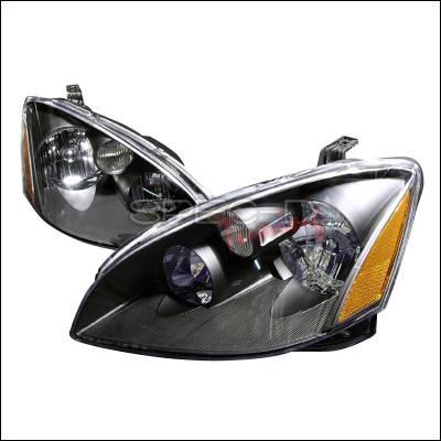 Spec-D - Nissan Altima Spec-D Crystal Housing Headlights - Black - 2LH-ALT02JM-KS